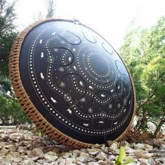 Ethnic design. Coin. Matt black6