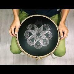 Guda Ortus Brass overtone tongue pan. Raga Desh scale. Custom design.