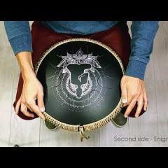 Guda Coin Brass overtone tongue pan. Hijaz/Enigma scale