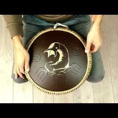 Guda Coin Brass overtone tongue pan. Dune design. Custom/Custom scale