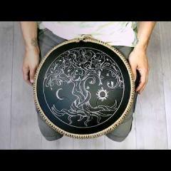 Guda Freezbee. Arcane (A=432Hz) scale. Yggdrasill moon and sun design