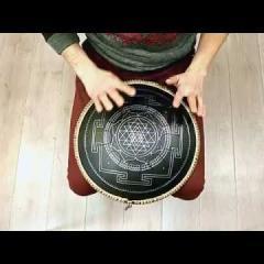 Guda Freezbee. Hutsul scale. Sri Yantra design
