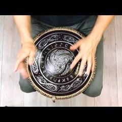 Guda Freezbee. African (A=432Hz) scale. Triskell runic design