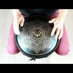 Guda Ortus Brass.Ice Flower design, black finish, Custom scale
