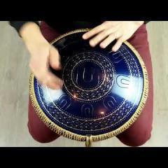 Guda Ortus Brass (left handed) Chaplet design, midnight blue finish, custom scale