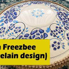 "Guda Drum Freezbee. Porcelain"" design. Performed by Anatoliy Gernadenko."