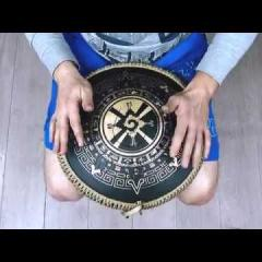 Guda Coin Brass overtone tongue pan. Zen Trance in D/Arcane scale (A=432Hz)