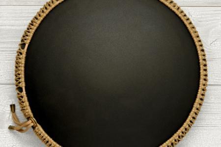 Freezbee drum, Dreamcatcher, black finishing photo 3